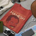 TAKE YOUR PRATHIKARAM BRICK RED UNISEX TSHIRT | MAHESHINTE PRATHIKARAM
