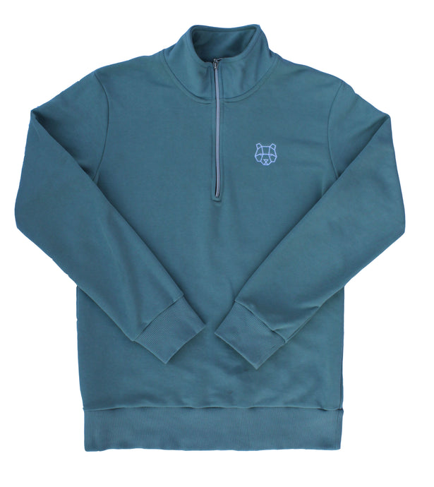 Cultured Collection 1/4 Zip Sweatshirt in Green