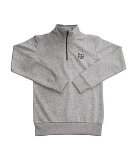 Cultured Collection 1/4 Zip Sweatshirt in Grey (Juniors)