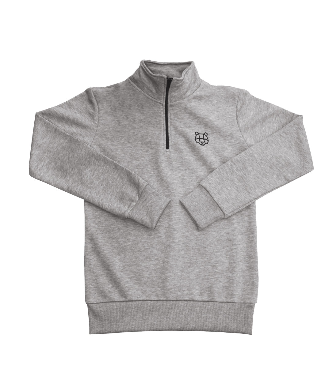 Cultured Collection 1/4 Zip Sweatshirt in Grey