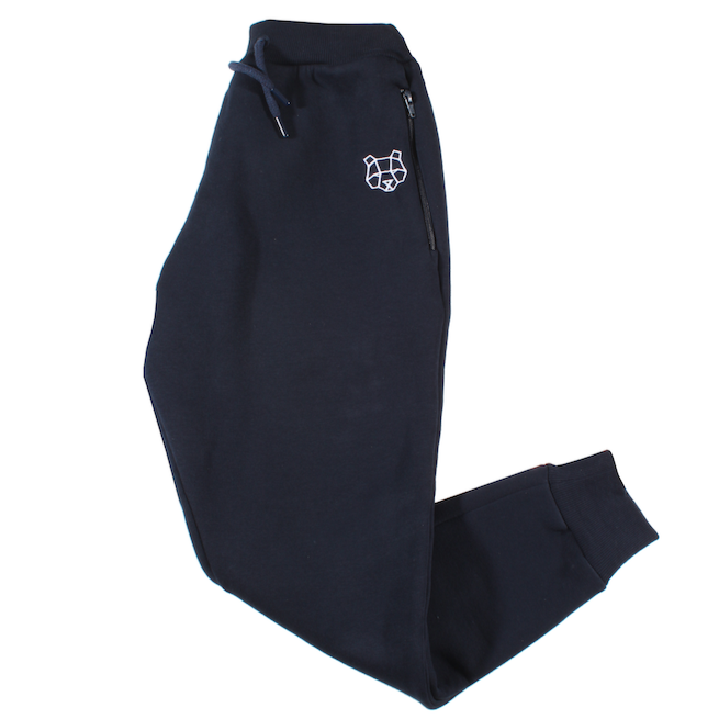 Storm Collection Fleece Lined Tracksuit Bottoms in Navy