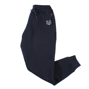 Storm Collection Fleece Lined Tracksuit Bottoms in Navy (Juniors)