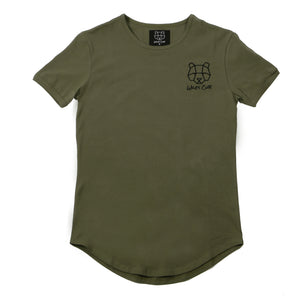 khaki short sleeve mens muscle fit t-shirt cheap