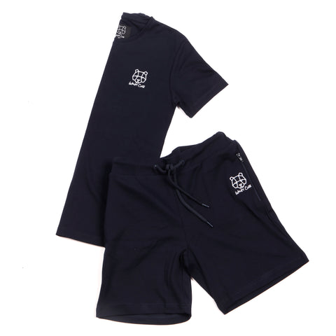 light weight summer spring tracksuit Wiley Cub wileycub twin set navy menswear childrenswear teens bear cub clothing
