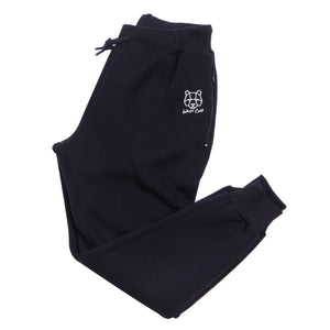 Navy Bear Cub Tracksuit Bottoms Trackpants Fleece Lined Zip Pockets Wiley Cub