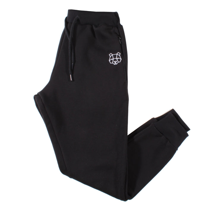 Storm Collection Fleece Lined Tracksuit Bottoms in Black (Juniors)