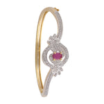 Meira Jewellery Bracelet with  Red Ruby and American melee diamonds for Women
