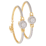 Indian Jewellery from Meira Jewellery:Bracelet,Meira Jewellery Bracelet with  CZ diamond Solitaire in Pave Setting for Women