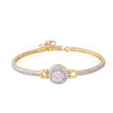Meira Jewellery Bracelet with  CZ diamond Solitaire in Pave Setting for Women