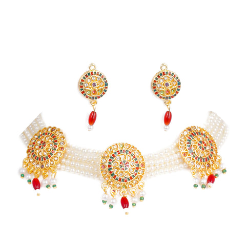 Eye Catchy Multy color Meenakari Work Rajputi Choker Set