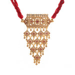 Rajasthani Red Color Heavy Zadau Work Traditional Aad