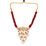 Peacock Design Gold Plated Rajasthani Aad