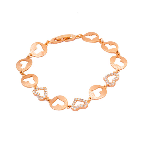 Rose Gold Heart Shape Love Bracelet