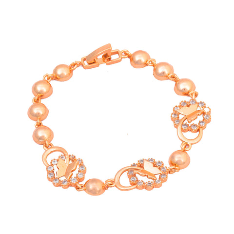 Rose Gold Butterfly Shape Bracelet