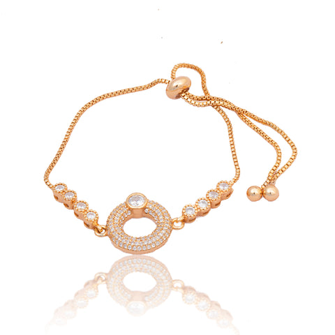 Rose Gold American Diamond Work Bracelet