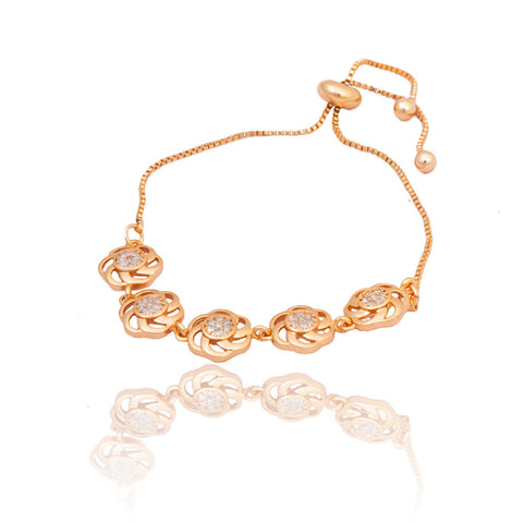 Rose Gold American Diamond Work Round Shape Bracelet