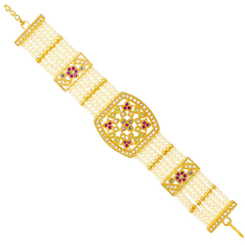 Ethnic Rajputi Pearl Bracelate For Women