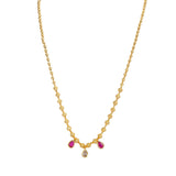 Fashionable Mala design Neckwear studded with pink kundan