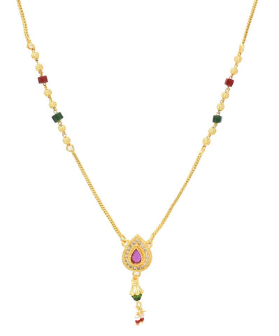 Indian Jewellery from Meira Jewellery:,Gold Plated AD Mangalsutra Dokia Test