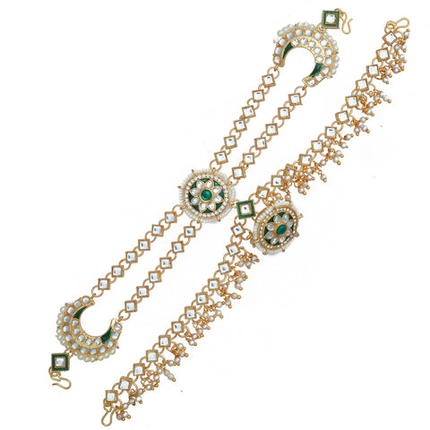 Ethnic Shishful Rajasthani Mathapatti Kundan Pearl For Women