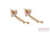 Indian Jewellery from Meira Jewellery:Earrings,Rose Gold Plated CZ Studded Drop Earring