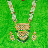 Traditional Gold Plated American Diamond Work Long set Rani Haar