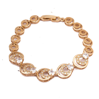 Rose Gold  American Diamond Designer Bracelet