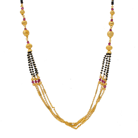 Designer Gold Plated Multy String Mangalsutra