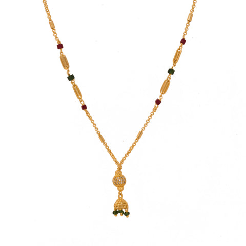 Delicate Gold Plated Simple design Neck piece