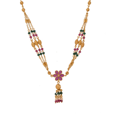Stunning Gold Plated Multy Color Neckpiece