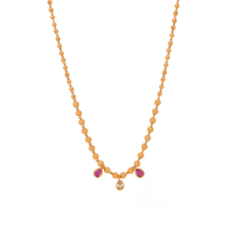 Fashionable Gold Plated Mala Design Chain Neck piece