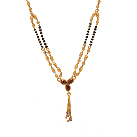 Ethnic Gold Plated Two String Mangalsutra