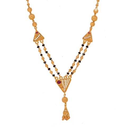 Fancy Gold Plated Multy String Mangalsutra