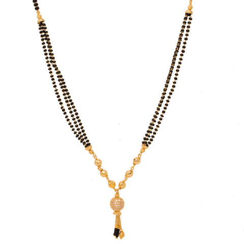 Traditional Gold Plated Solitaire Design Mangalsutra