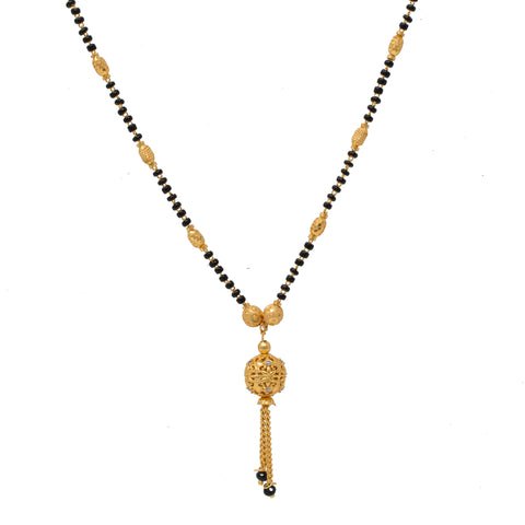 Light Weight Trendy Gold Plated Mangalsutra