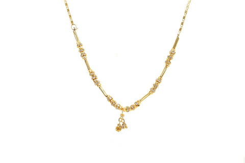 Indian Jewellery from Meira Jewellery:Chain Necklace,Trendy Golden Chain Necklace MJ-DOK-HD-01BG