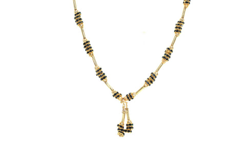 Indian Jewellery from Meira Jewellery:Chain Necklace,Trendy Golden Chain Necklace MJ-DOK-HD-02AG