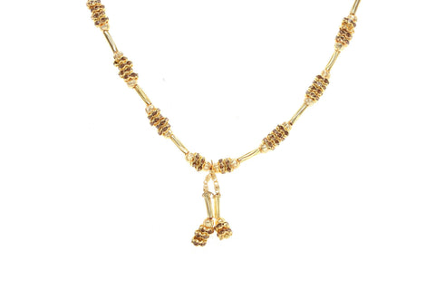 Indian Jewellery from Meira Jewellery:Chain Necklace,Trendy Golden Chain Necklace MJ-DOK-HD-02CG