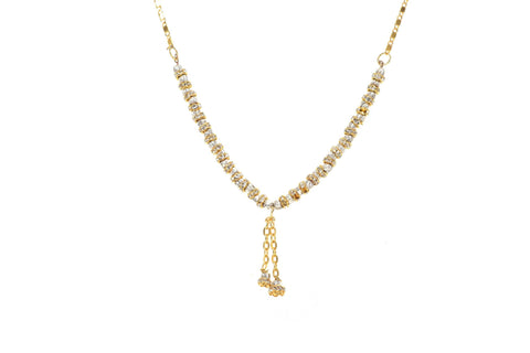 Indian Jewellery from Meira Jewellery:Chain Necklace,Trendy Golden Chain Necklace MJ-DOK-HD-071BG