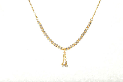 Indian Jewellery from Meira Jewellery:Chain Necklace,Trendy Golden Chain Necklace MJ-DOK-HD-07BG