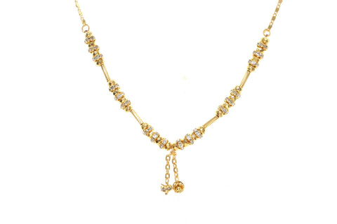 Indian Jewellery from Meira Jewellery:Chain Necklace,Trendy Golden Chain Necklace MJ-DOK-HD-09AG