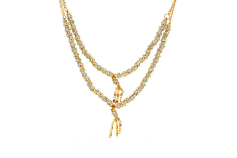 Indian Jewellery from Meira Jewellery:,Trendy Golden Chain Necklace MJ-DOK-HD-DLSG