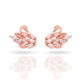 Meira Jewellery CZ Studded Peacock Design Studs for Women & Girls