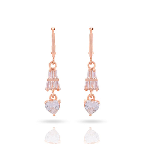 Meira Jewellery Glass Stone Earring with Drop for Women & Girls