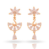 Meira Jewellery CZ Studded Peacock Earring for Women & Girls