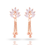 Meira Jewellery CZ Studded Peacock Earring with tassels for Women & Girls