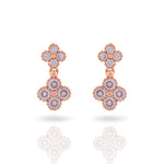 Meira Jewellery AD Studded Cross Earring for Women & Girls