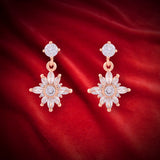 Meira Jewellery CZ Studded Frost Design Dangle and Drop Earring for Women & Girls