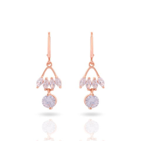 Meira Jewellery CZ & AD Studded Nice Design Drop and Hoop Earring for Women & Girls