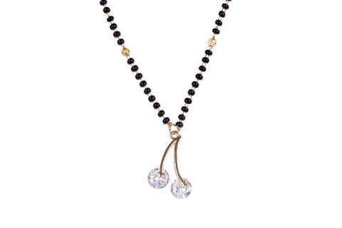 Indian Jewellery from Meira Jewellery:Mangalsutra,Meira Jewellery CZ studded Mangalsutra Rose Gold Plated